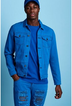 Mens Cobalt Regular Fit Denim Western Jacket