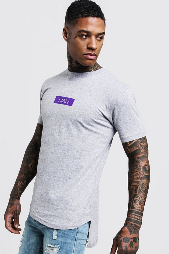 MAN Box Step Hem T-Shirt