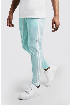Mens Aqua Original MAN Tricot Skinny Fit Joggers With Tape