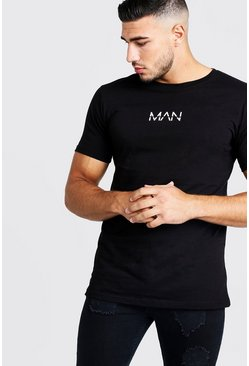 T-shirt long Original MAN, Noir, Homme