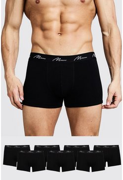 Black 7 Pack MAN Signature Trunks