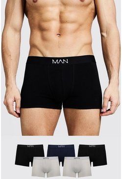 Multi 5 Pack Mixed Colour MAN Trunks