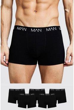 Black 5 Pack MAN Trunks