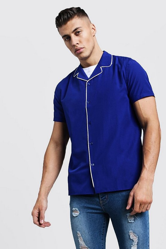 Revere Short Sleeve Shirt With Piping