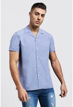 Mens Abyss Revere Collar Short Sleeve Shirt