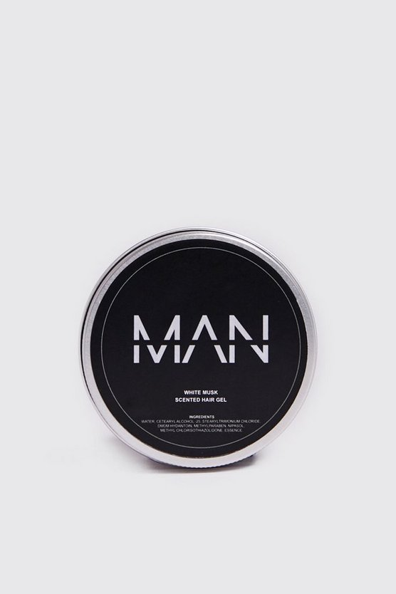 Mens Clear MAN White Musk Scented Hair Gel