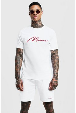 T-shirt et short - MAN, Blanc