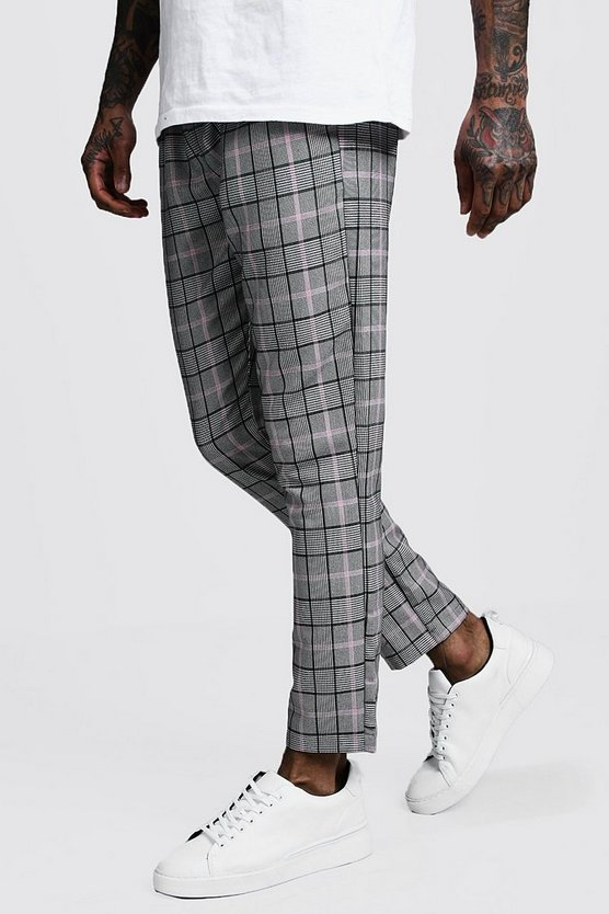 Pastel Window Pane Check Smart Jogger