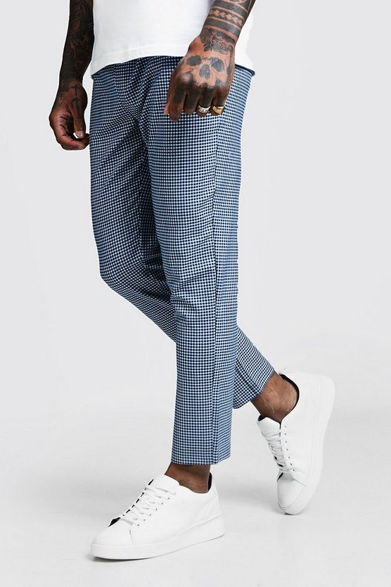 Mini Gingham Smart Cropped Jogger