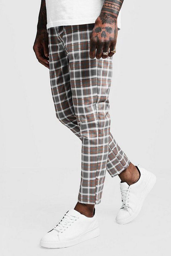 Prince Of Wales Check Cropped Smart Jogger