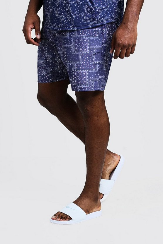Big & Tall Bandana Print Swim Shorts