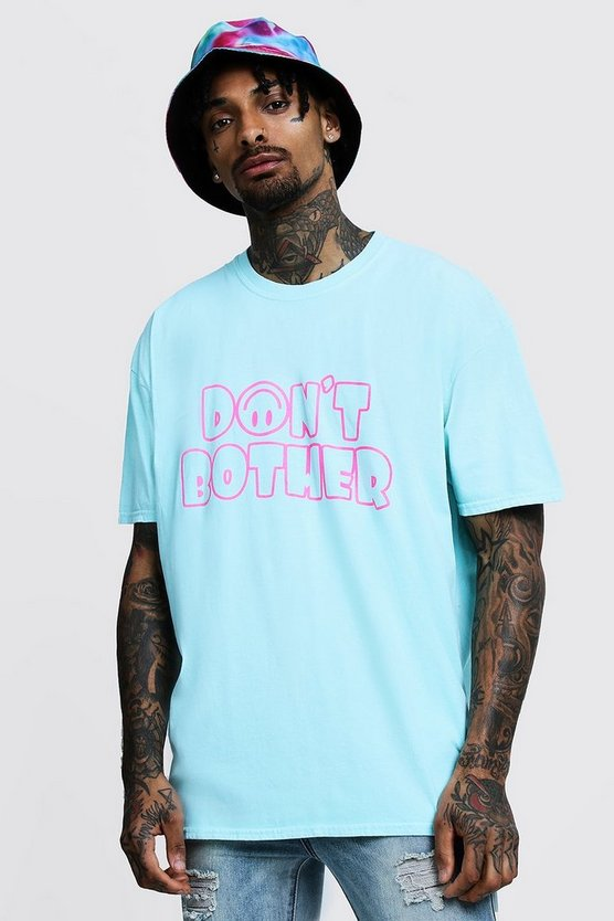 Oversized Dont Bother Printed T-Shirt