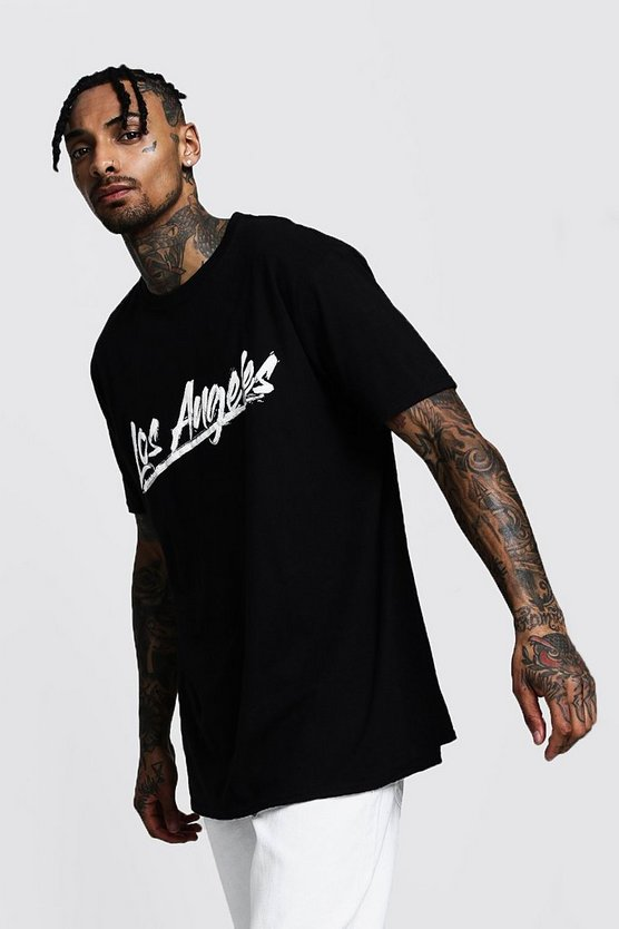 Los Angeles Printed Oversized T-Shirt