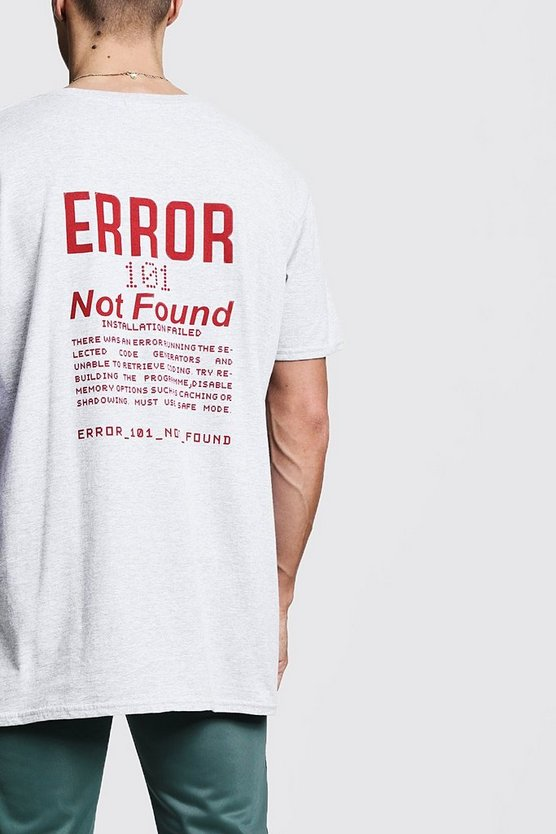 Printed Error Oversized Tee
