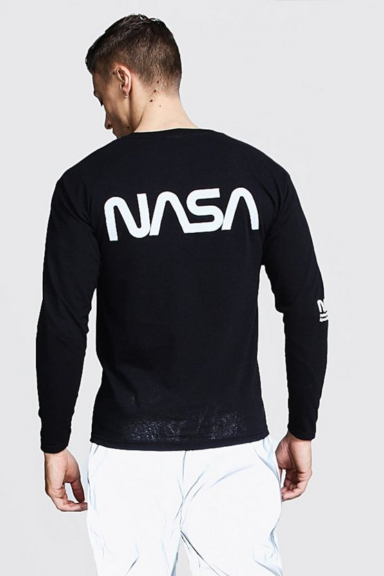 Long Sleeve NASA Reflective License T-Shirt