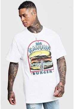 White Big Kahuna Pulp Fiction License Oversized T-Shirt