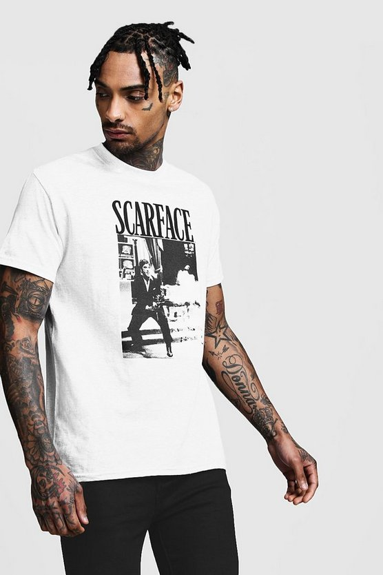 Scarface Fire Scene License Oversized T-Shirt