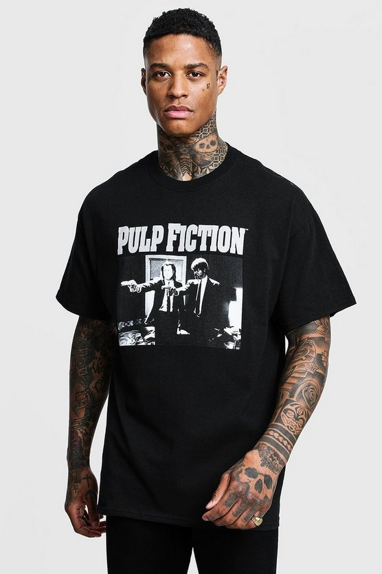 Pulp Fiction Mono Print License Oversized T-Shirt
