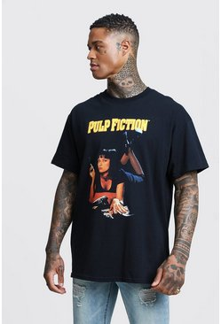 Black Pulp Fiction Mia Licensed Oversized T-Shirt