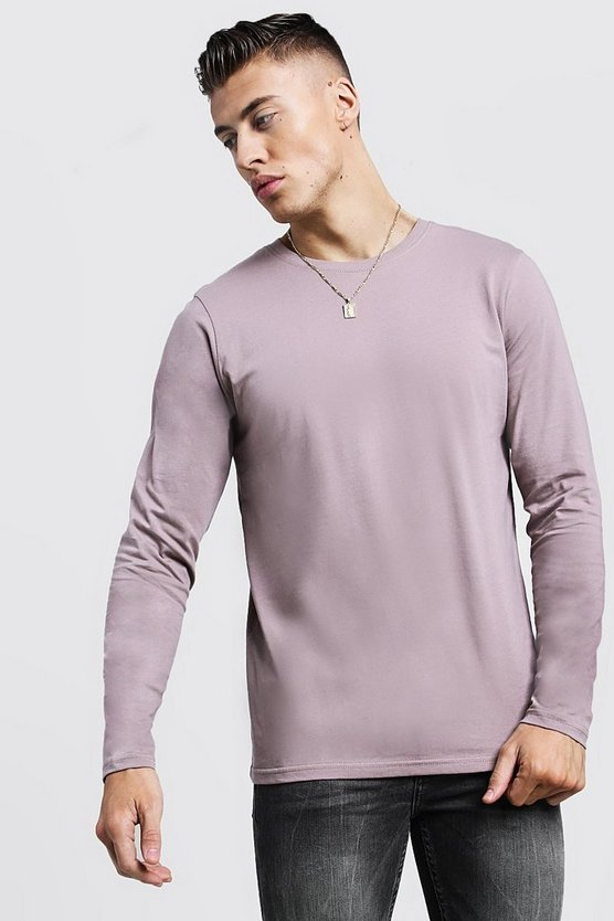 Basic Long Sleeve Crew Neck T-Shirt