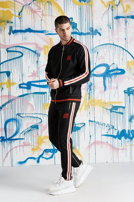 Quavo Bomber Neck Tracksuit With Sports Rib
