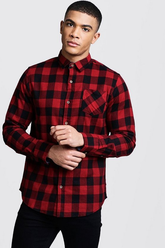 Red Check Regular Fit Shirt