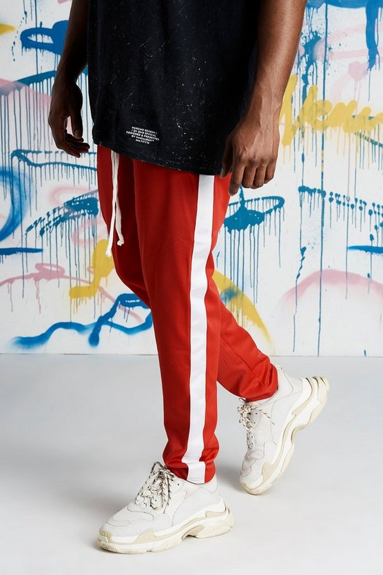 Big And Tall Quavo Tricot Joggers With Panels