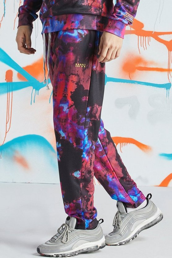 Quavo Tie Dye Skinny Jogger With Print