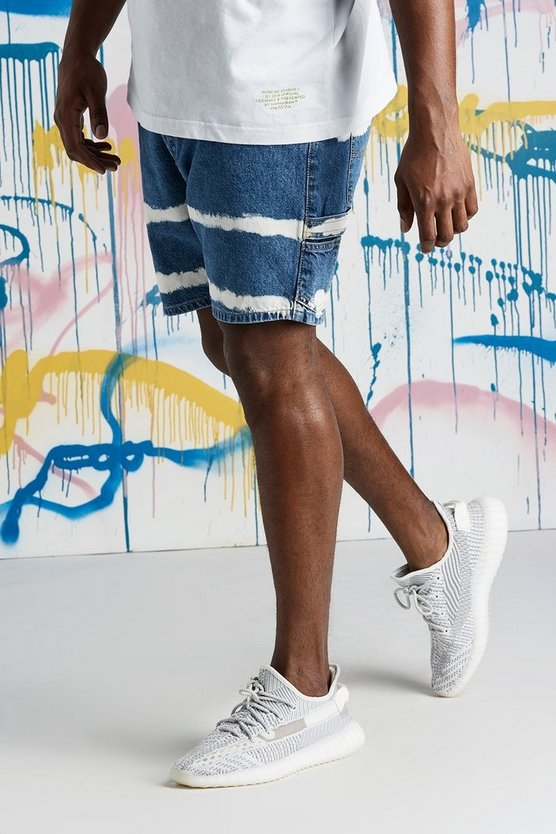 Big & Tall Quavo Slim Fit Tie Dye Denim Short