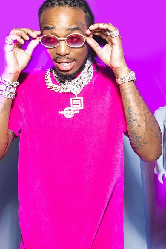 Quavo Velour T-Shirt With Print