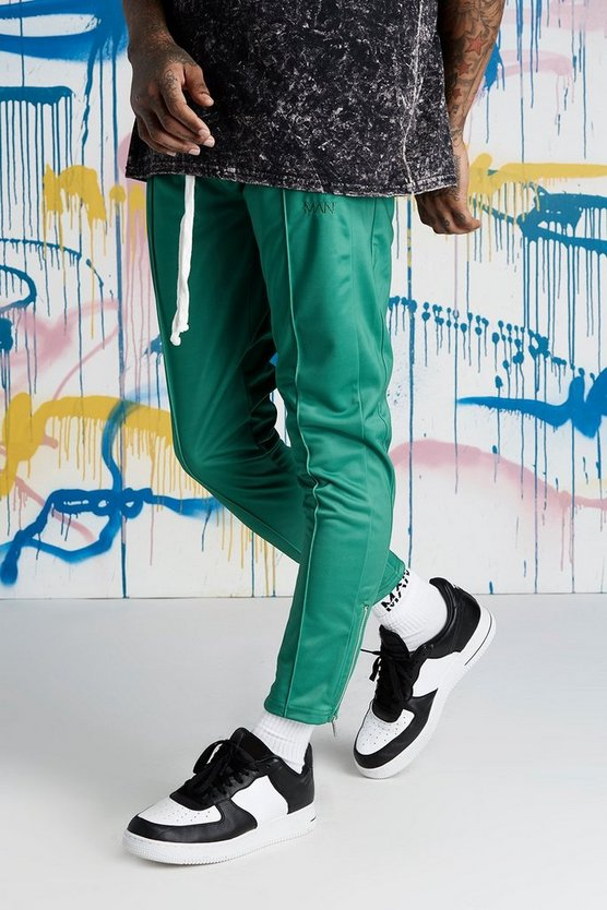 Quavo Tricot Pintuck Panelled Joggers