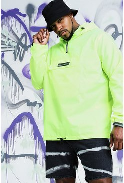 Mens Big & Tall Quavo Lime Festival Cagoule