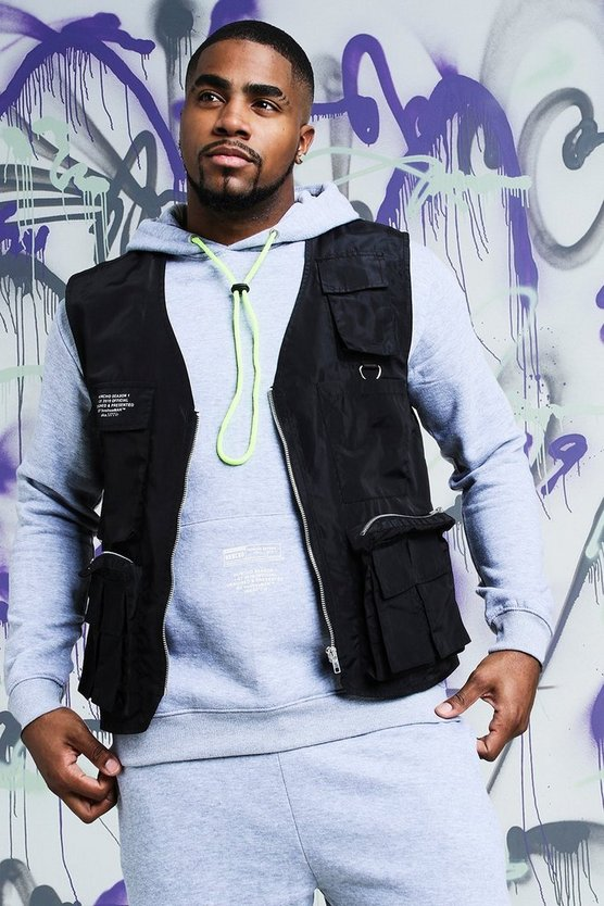 Big & Tall Quavo Nylon Military Vest