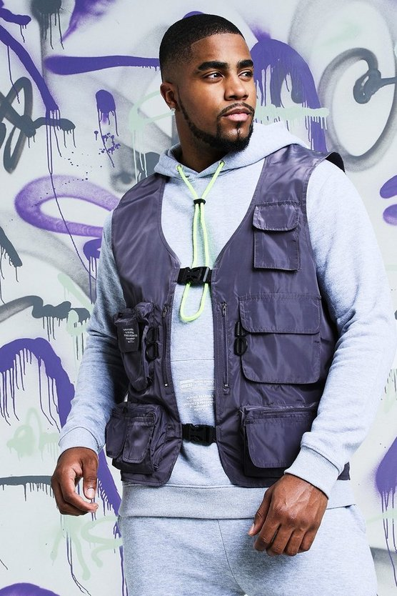 Big & Tall Quavo Nylon Military Buckle Vest