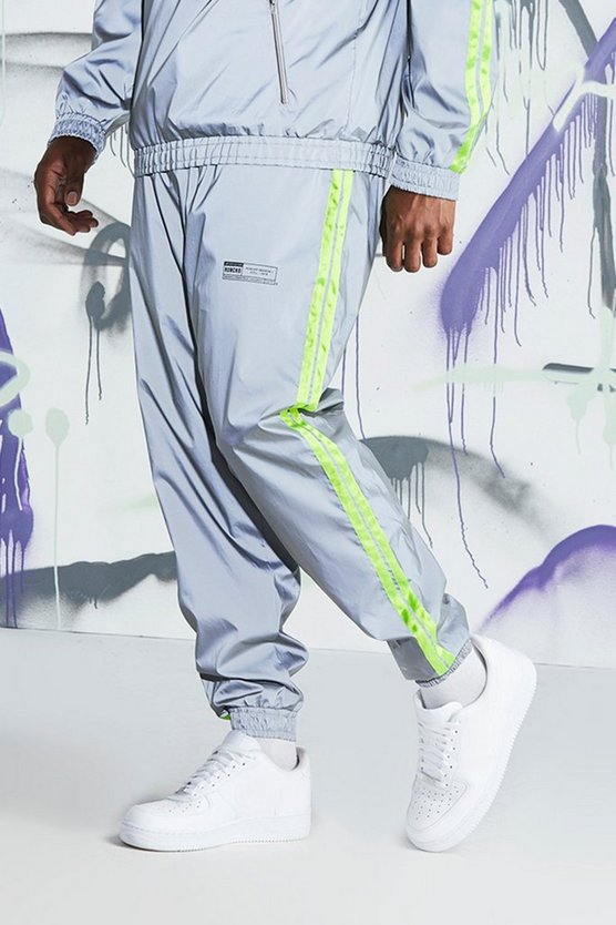 Big & Tall Quavo Reflective Joggers With Tape
