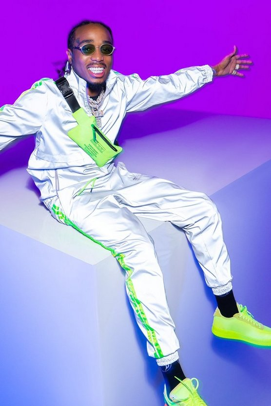 Quavo Reflective Jogger With Neon Tape