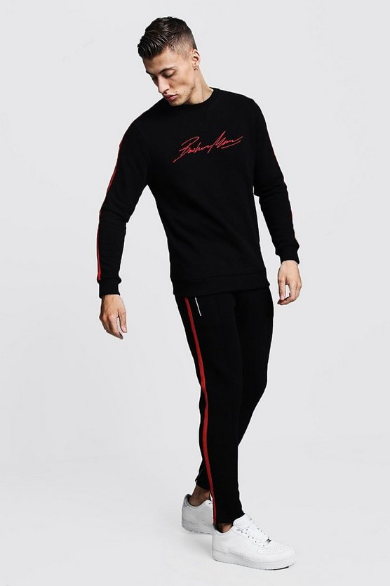 MAN Autograph Sweater Tracksuit With Tape