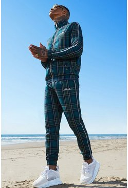 Forest Tartan MAN Emboridered Smart Tracksuit