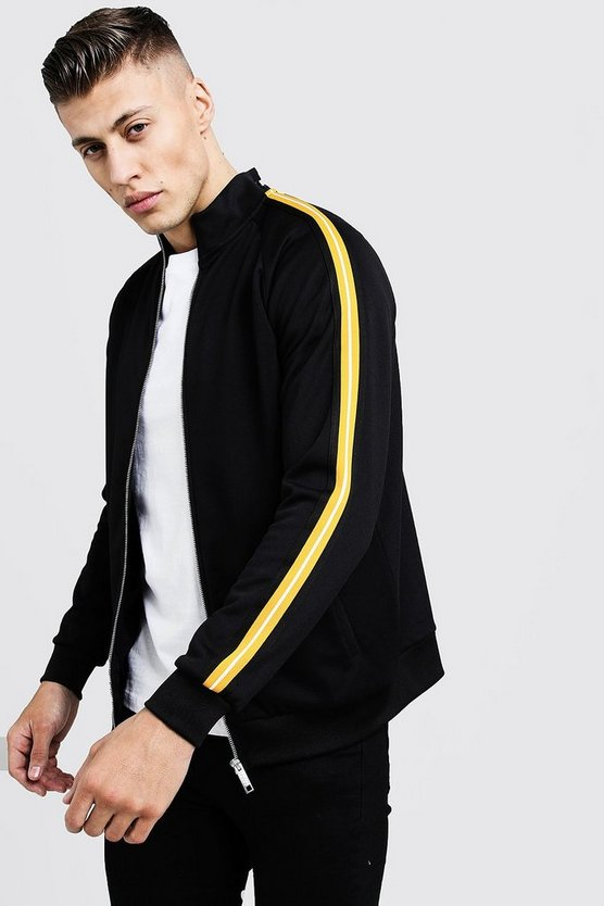 Tricot Tape Detail Smart Track Top