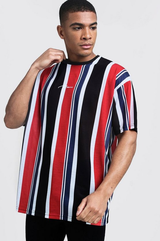 Oversized MAN Signature Stripe T-Shirt