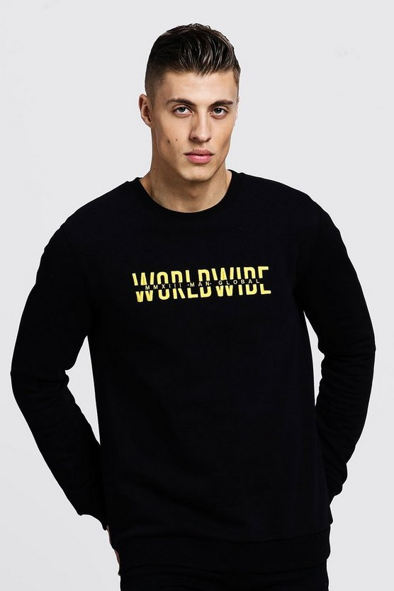 Black Worldwide MAN Embroidered Sweater