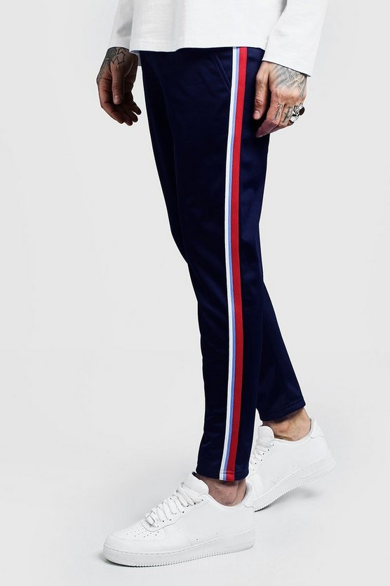 Side Tape Tricot Cropped Jogger