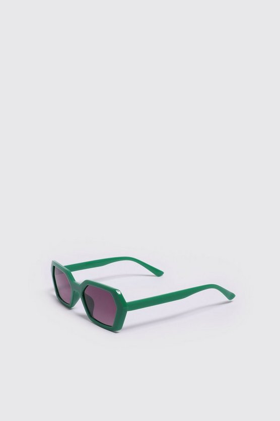 Mens Green Festival Acetate Sunglasses
