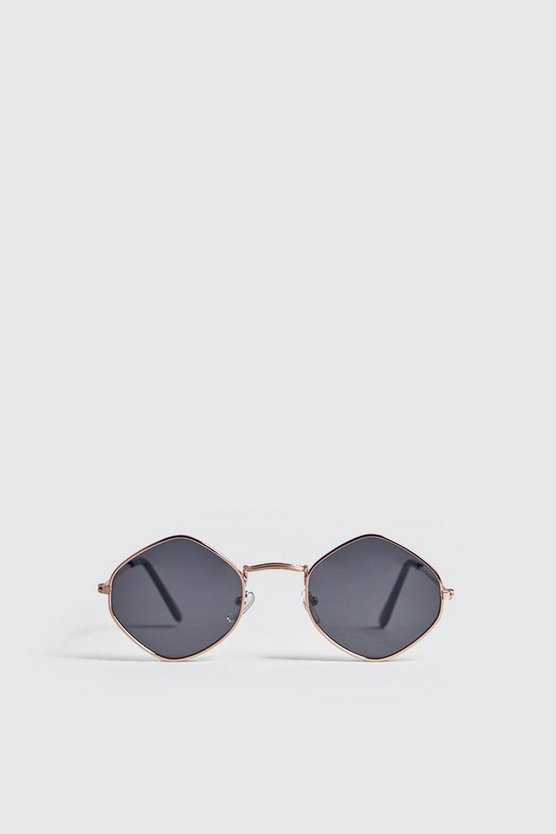 Diamond Frame Tinted Sunglasses