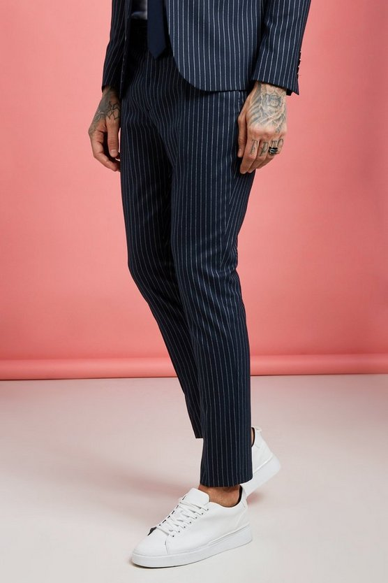 Wide Stripe Skinny Fit Suit Trouser