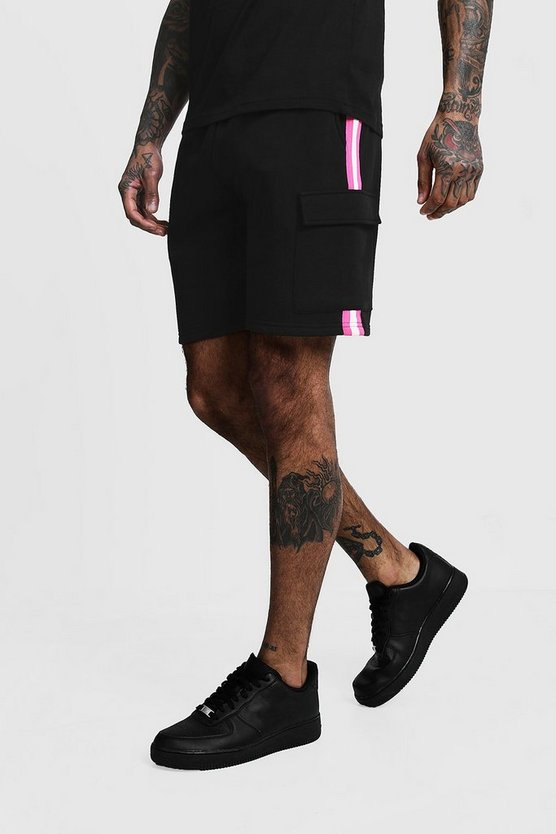 Cargo Jersey Mid Length Taped Shorts