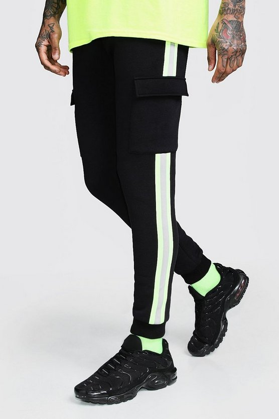 Neon Tape Detail Skinny Fit Jogger