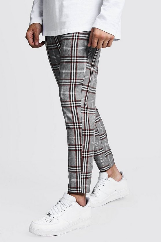 Check Cropped Smart Jogger Trouser