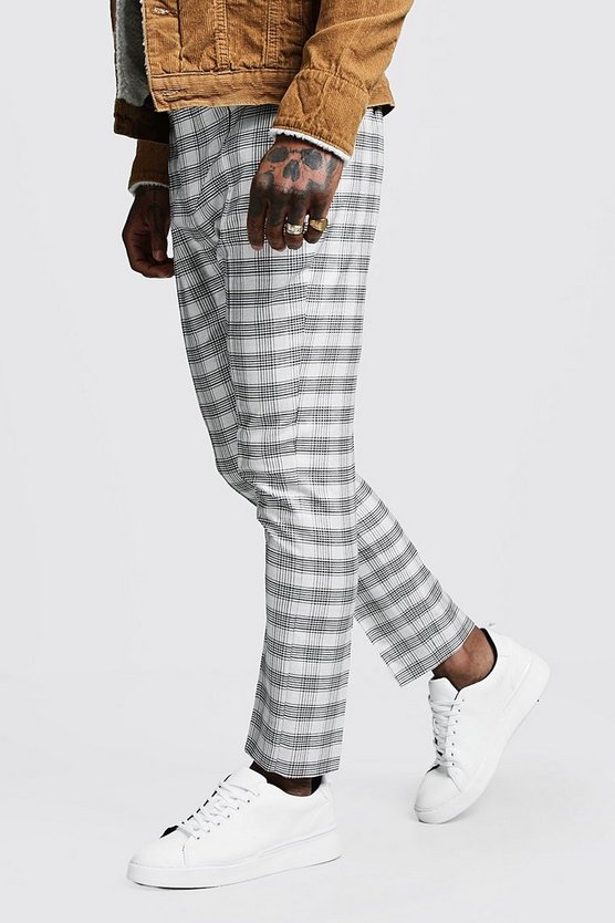 Heritage Check Pintuck Smart Jogger