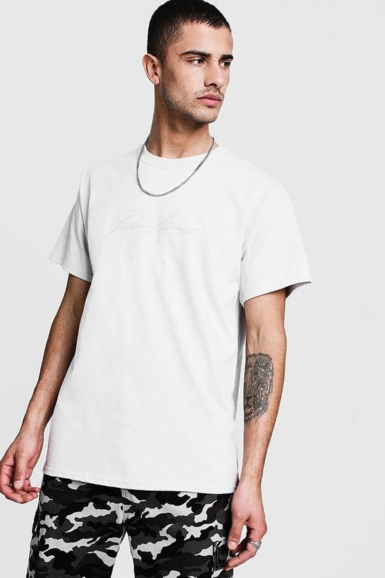 MAN Autograph Embroidered T-Shirt